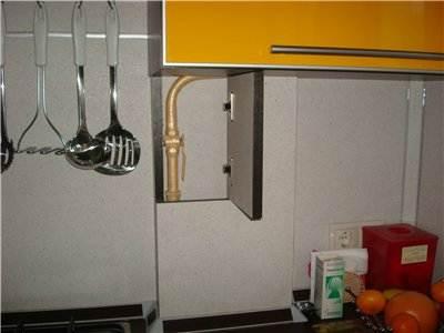 Съемная панель на газовую трубу